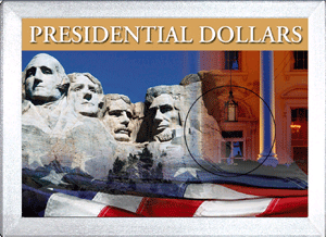 Presidential Dollar Single Coin HE Harris 2x3 Frosty Case 2x3 Presidential Dollar Single Coin HE Harris 2x3 Frosty Case, HE Harris & Co, 0794821847