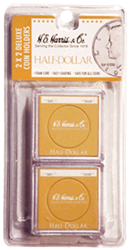 Half Dollar 2x2 Snaplock Coin Holder HE Harris Retail Pack 2x2 Half Dollar 2x2 Snaplock Coin Holder HE Harris Retail Pack, HE Harris & Co, 90921157
