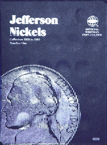 Whitman Jefferson Nickels Number 1 Coin Folder 6x7.75 Whitman Jefferson Nickels Number 1 Coin Folder, Whitman, 9009