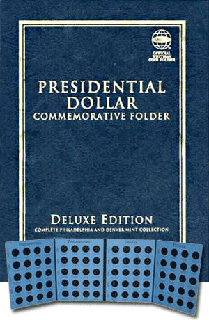 Whitman Presidential Dollar Commemorative Coin Folder 7x9.3 Whitman Presidential Dollar Commemorative Coin Folder, Whitman, 0794823823