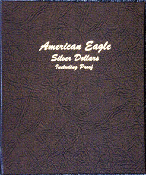 American Silver Eagles with Proofs - Dansco Coin Album 8181 American Eagle Silver Dollars w/ Proof Dansco Coin Album , Dansco, 8181