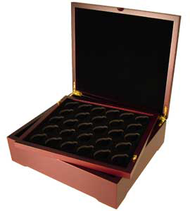 Guardhouse Four-Tray Wood Coin Display Box for Air-Tites
