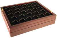 Guardhouse Wood Coin Tray for Air-Tite Size A Capsules