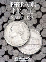 Jefferson Nickels 1996-2002 HE Harris Coin Folder 6x7.75 Jefferson Nickels 1996-2002 HE Harris Coin Folder, HE Harris & Co, 2681