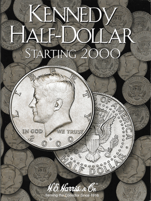 HE Harris Kennedy Half Dollar 2000-Date Coin Folder