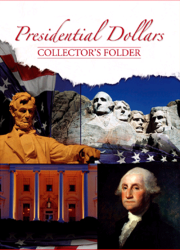 Presidential Dollar Collectors Folder 1 Mint Mark 7x9.5 Presidential Dollar Collectors Folder 1 Mint Mark, Whitman, 0794821790