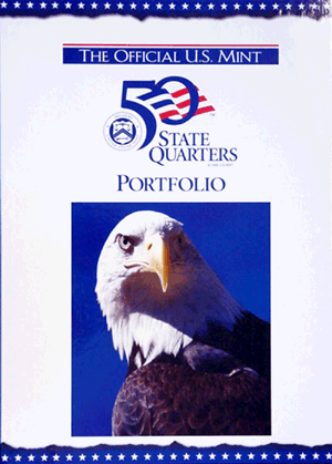 US Mint State Quarter Portfolio Map 16 x 12 opens to 16 x 36 US Mint State Quarter Portfolio Map, U.S. Mint, 1239