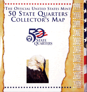 US Mint 50 State Quarter Collectors Map 13.5 x 12.625 US Mint 50 State Quarter Collectors Map, U.S. Mint, 5181