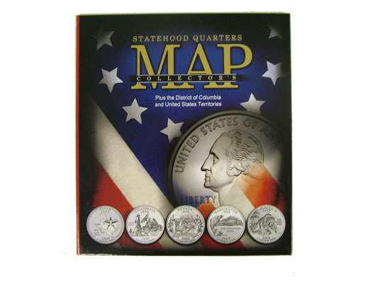 State Quarter Collector%27s Map Cover