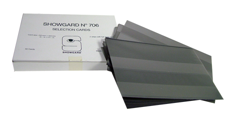 Showgard Selection Card 6x8 Black