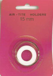 15mm Ring Fit Air Tite Coin Capsule White 15 mm 15mm Ring Fit Air Tite Coin Capsule White, Air Tite, Model A