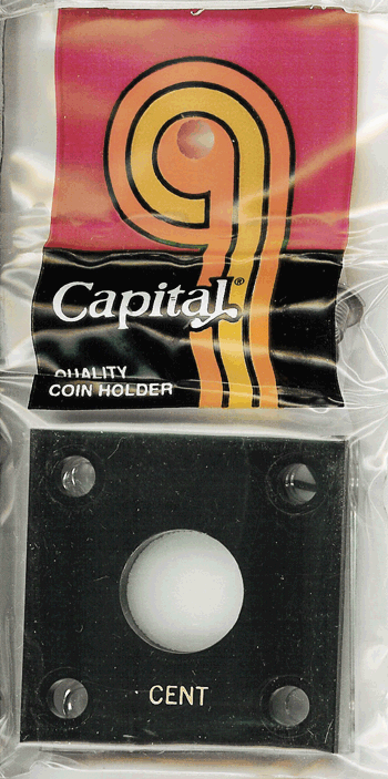 Cent Capital Plastics Coin Holder 144 Type Black 2x2 Cent Capital Plastics Coin Holder 144 Type Black, Capital, 144