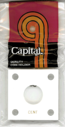 Cent Capital Plastics Coin Holder 144 Type White 2x2 Cent Capital Plastics Coin Holder 144 Type White, Capital, 144