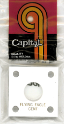 Flying EagleCapital Plastics Coin Holder 144 Type White 2x2 Flying EagleCapital Plastics Coin Holder 144 Type White, Capital, 144