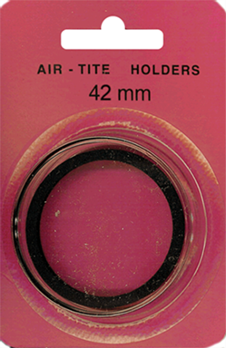 42mm Ring Fit Air Tite Coin Capsule - Black 42mm Ring Fit Air Tite Coin Capsule Black, Air Tite, Model I
