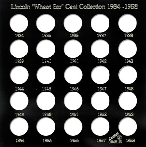 Lincoln Wheat Ear Cents 1934 Capital Plastics Coin Holder Black Galaxy Lincoln Wheat Ear Cents 1934 Capital Plastics Coin Holder Black, Capital, GX451W