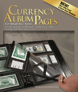 Refill Pages Whitman Premium Currency Album - Small  Notes - Clear View