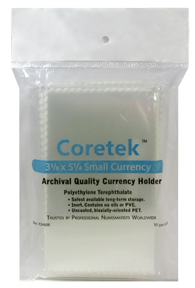 Coretek Small Currency Holder 5 1/4 x 3 1/8 - 50 pack