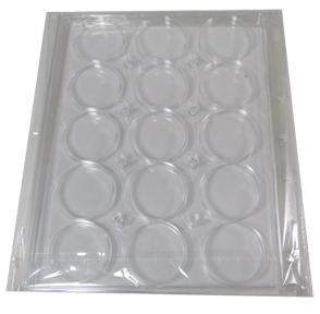 15 slots ENCAP Clear Coin Capsules Pages (Fits Guardhouse XL, Ligththouse 44/45, Airtite I)