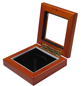 Guardhouse Glass-top Wood Display Box - Holds Small Sized Capsule