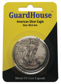American Silver Eagle Direct Fit Guardhouse Capsule - Retail Card