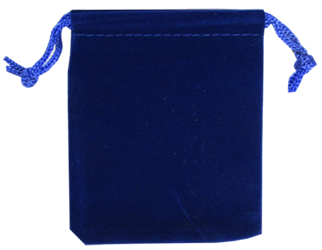 Velvet Drawstring Pouch - 2.75x3.25 Royal Blue