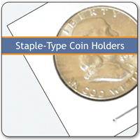 Staple-Type Coin Holders