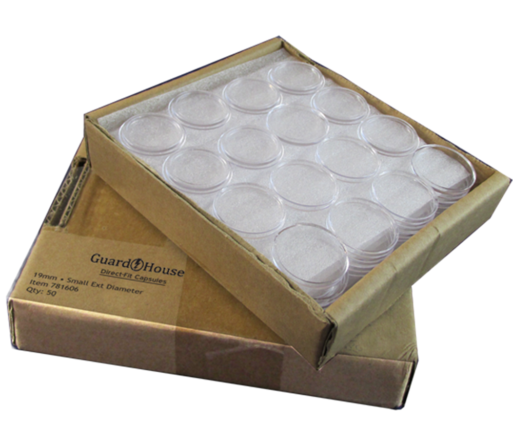 Guardhouse Large Dollar Coin Capsules - 50 Piece Pack guardhouse,coin capsule, large dollar, acrylic
